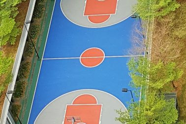 Supplier of acrylic surface coating for sporting courts in Singapore