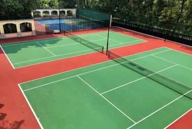 Singapore supplier of acrylic surface coating for court surfaces