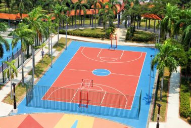 Acrylic surface coating for recreational courts in Singapore