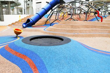 Singapore playground equipment and cast-in-situ flooring supplier for recreational park