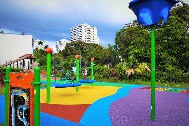 Singapore cast-in-situ rubber flooring supplier for nursery