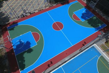 Acrylic surface coating for sporting